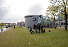 凡・高博物馆在阿姆斯特丹,荷兰 免版税库存照片