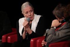 凡妮莎・蕾格烈芙遇见观众-第12罗马影片费斯特 图库摄影