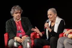 凡妮莎・蕾格烈芙遇见观众-第12罗马影片费斯特 库存照片