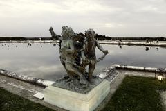 凡尔赛喷泉秋天的 库存照片