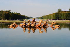 凡尔赛喷泉  库存图片