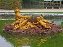 凡尔赛喷泉  免版税图库摄影