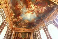 凡尔赛宫位于城市的中心位于大约16英里外面 免版税库存照片