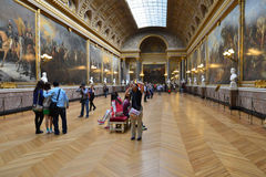 凡尔赛宫在利-德-法兰西 免版税库存图片