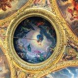 凡尔赛宫天花板  免版税图库摄影
