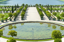 凡尔赛宫殿的庭院  免版税库存照片