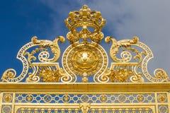 凡尔赛宫殿美好的门  图库摄影