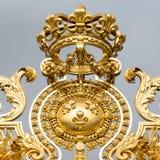 凡尔赛宫的金门或者大别墅de凡尔赛或者完全凡尔赛,在法国 库存图片