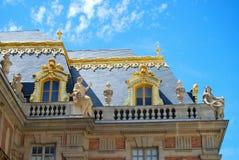 凡尔赛法国巴洛克式的建筑设计的宫殿 免版税库存图片