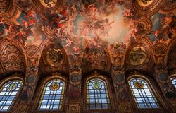 凡尔赛皇家教堂内部  免版税库存图片
