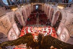 凡尔赛皇家教堂内部  图库摄影
