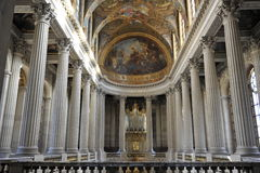 凡尔赛,法国皇家教堂。 库存图片
