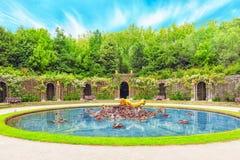 凡尔赛,法国- 2016年7月02日:在花花公子的Escalade喷泉 库存照片