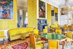 凡尔赛,法国- 2016年7月02日:家庭沙龙(apartaments) 免版税图库摄影