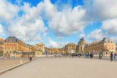 凡尔赛,法国- 2016年7月02日:朝向(主要)入口与 库存图片