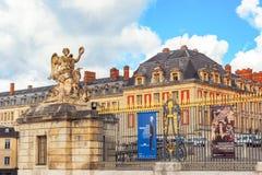 凡尔赛,法国- 2016年7月02日:顶头大门与 免版税库存照片