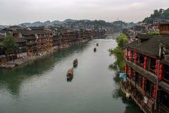 凤凰牌的沱江河,中国 库存图片