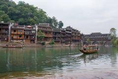 凤凰牌的沱江河,中国 免版税库存照片