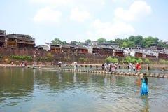 凤凰牌,湖南,中国古城 免版税库存照片