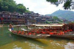 凤凰牌,湖南,中国古城 库存照片