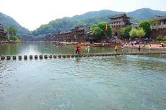 凤凰牌,湖南,中国古城 库存图片