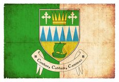 凯利爱尔兰难看的东西旗子  免版税库存照片