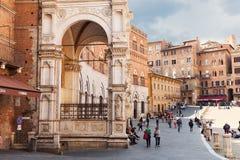 凯姆帕del意大利广场siena 免版税图库摄影