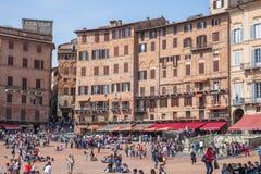 凯姆帕del意大利广场siena 免版税库存照片