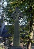 凯尔特十字架在阿伯丁坟园,苏格兰 免版税图库摄影