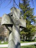 凯尔特十字架墓石 免版税库存图片