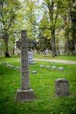 凯尔特墓碑 免版税库存照片