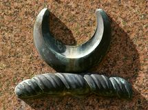 凯尔特新月形绳索符号 库存图片