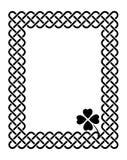 凯尔特样式三叶草框架 免版税图库摄影