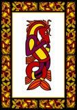 凯尔特框架装饰物 免版税库存照片