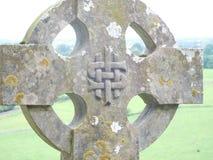 凯尔特爱尔兰十字架 图库摄影