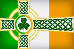 凯尔特爱尔兰旗子设计 向量例证