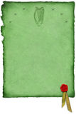 凯尔特竖琴羊皮纸w 图库摄影