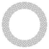 凯尔特结圆的框架 库存例证