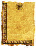 凯尔特羊皮纸 免版税库存照片