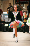 凯尔特舞蹈演员 库存照片