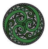 凯尔特螺旋装饰品 免版税图库摄影