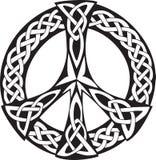 凯尔特设计和平标志 免版税库存图片