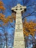 凯尔特跨的爱尔兰饥荒纪念碑 库存照片