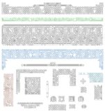 凯尔特结间隔号和标头 免版税库存图片