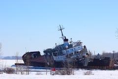 凯思林精神被放弃的船 免版税图库摄影