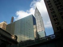 凯悦和克莱斯勒大厦 免版税库存照片