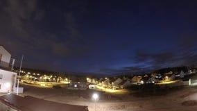 凯拉瓦,夜timelapse的芬兰 股票录像