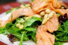 凯撒瑞士五针松沙拉三文鱼 库存照片