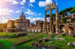 凯撒论坛在罗马 库存图片
