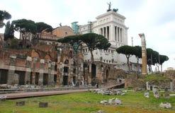 凯撒论坛罗马 库存照片